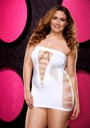 Backroom Mini Dress - White - Plus