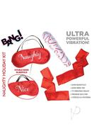 Bang! Naughty Holiday Blindfold And Wrist Ties Kit (set Of...